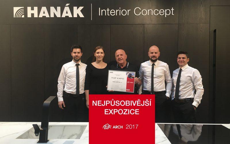 Ocenění TOP EXPO: Nejpůsobivější expozice na FOR ARCHU 2017